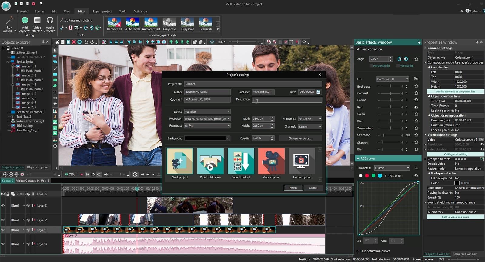 1 - برنامج تعديل الفيديو بدون علامة مائية للكمبيوتر 5 برامج احترافية