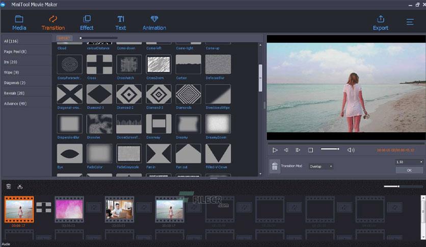 minitool moviemaker free download 02 - برنامج تعديل الفيديو بدون علامة مائية للكمبيوتر 5 برامج احترافية