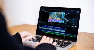 young content creator girl editing video her laptop working from home 310x165 - برنامج تعديل الفيديو بدون علامة مائية للكمبيوتر 5 برامج احترافية