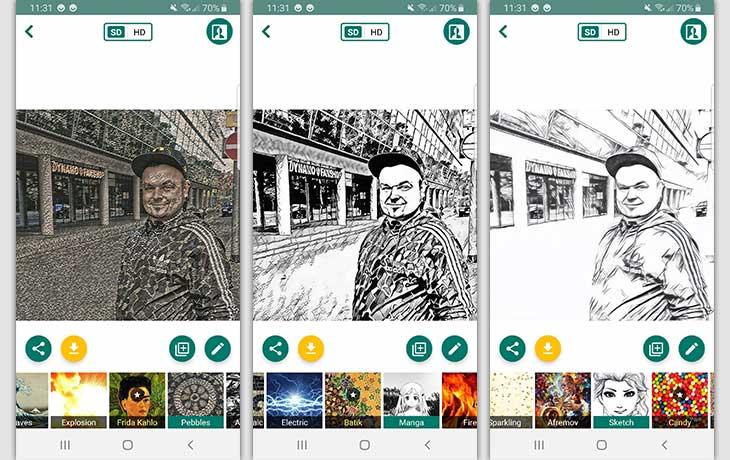 picsart 1 - تطبيق تحويل الصورة الى رسم للاندرويد و iOS
